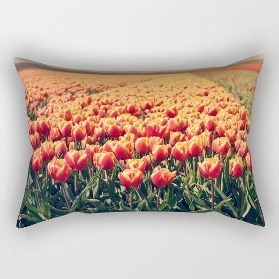 Tulips field #6 Rectangular Pillow