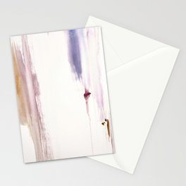 Sugar and Spice [2]: a minimal, pretty abstract piece in pinks, purple, mauve, and tan Stationery Cards