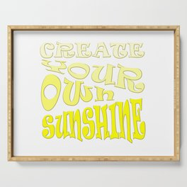Create Your Own Sunshine Inspirational Quote Serving Tray