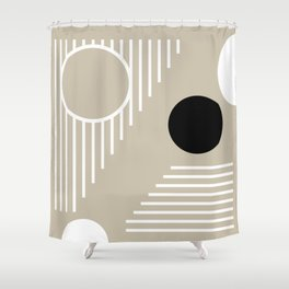 Lines & Circles 2  #society6 #tapestry #posters #artprint Shower Curtain