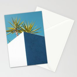 Cactus blue white Stationery Cards