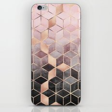 Pink And Grey Gradient Cubes iPhone & iPod Skin