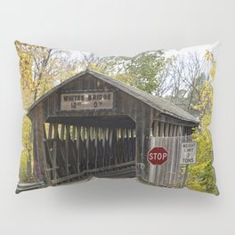 Whites Covered Bridge in Michigan Pillow Sham