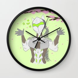 Cherry Blossom Ninja Wall Clock
