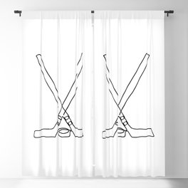 Hockey one line Blackout Curtain