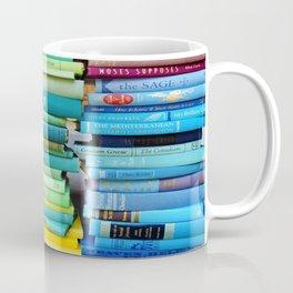 Rainbow Stacks of Vintage Books Coffee Mug
