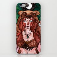 skyrim iPhone & iPod Skins featuring Skyrim Warrior by Jazmine Phillips
