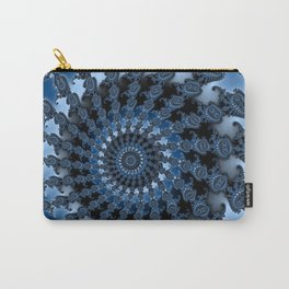 Ice blue mandelbrot Carry-All Pouch