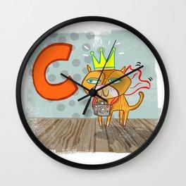 """""""C"""" Wall Clock"""