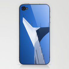 Airplane wing on a blue sky  iPhone & iPod Skin