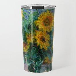 Bouquet of Sunflowers - Claude Monet Travel Mug