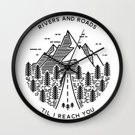 Rivers and Roads Wall Clock