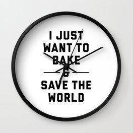 Bake & Save the World Wall Clock