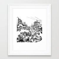 baltimore Framed Art Prints featuring Baltimore by Clark Bint