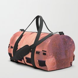 City fountain at the Sunset Duffle Bag