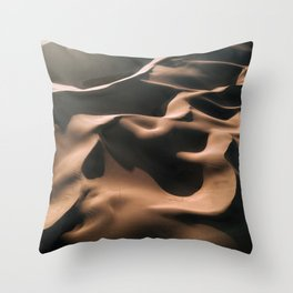 Lovers in the Sand - Aerial Landscape Photography Throw Pillow