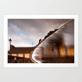 Flowing Water Abstract Art Print
