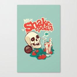 Milk Shakespeare Canvas Print