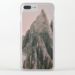 MOUNTAIN ROSE Clear iPhone Case