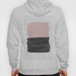 Blush Black Abstract Minimalism #1 #minimal #ink #decor #art #society6 Hoody