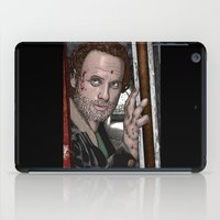 rick grimes iPad Cases featuring Rick Grimes  Walking Dead by Kenneth Shinabery