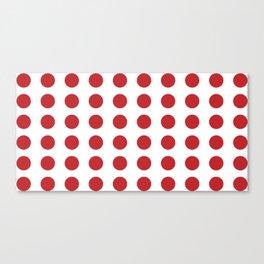 Retro Red Polka Dots #kirovair #home #decor #retrostyle #polkadots #stylish #sixties Canvas Print