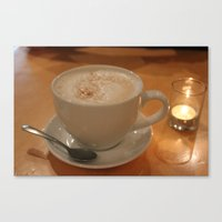 cafe Canvas Prints featuring Cafe by Madeline