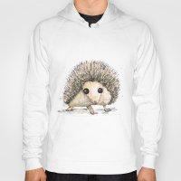 hedgehog Hoodies featuring Hedgehog by Bwiselizzy