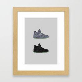 Kaws Jumpman 4 | Grey / Black & Cement 1 Framed Art Print