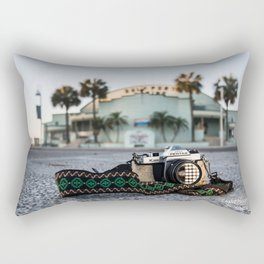 In front of the lens Rectangular Pillow