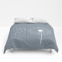 Dandelion and birds Comforters