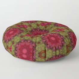 Crimson kaleidoscope. Wonderful design. Bright , juicy. Floor Pillow