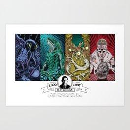 H. P. Lovecraft Tribute Art Print