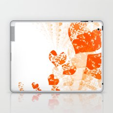 Heart - Orange Laptop & iPad Skin