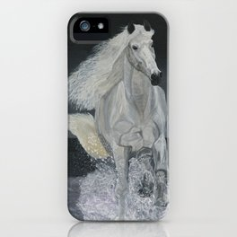 White Horse Freedom iPhone Case