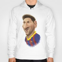 messi Hoodies featuring Messi - Barcelona by Sant Toscanni