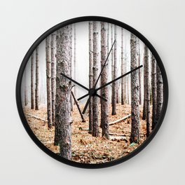 Skinny Pine Forest Wall Clock