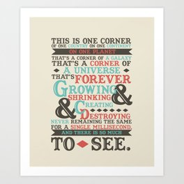 There Is So Much To See Art Print
