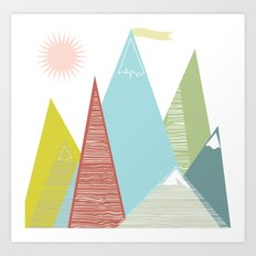 Mountain Peaks! Art Print