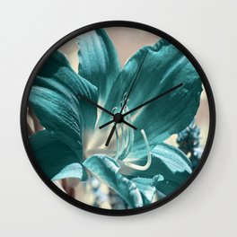 Lily flower 025 Wall Clock