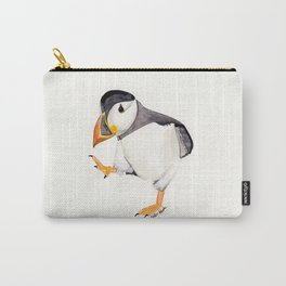 Waddle (Puffin) - animal watercolor painting Carry-All Pouch