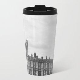 Big Ben in Black and White - London Metal Travel Mug