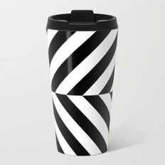 Black and White Op Art Design Travel Mug