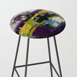 Controversy Prince Deep Purple Abstract Painting Modern Art Bar Stool