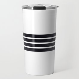 Classic Black Stripes Travel Mug