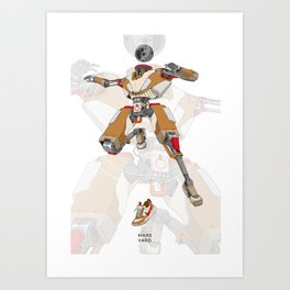 Mars Yard Art Print