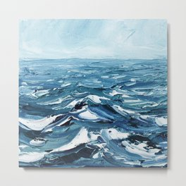 Deep Dark Seas Metal Print