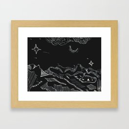 Grandfather Mountain NC Night Sketches Framed Art Print