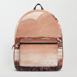 Monochromatic Landscape Painting Backpack
