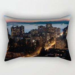 English Bay Sunset Rectangular Pillow